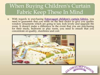 When Buying Children's Curtain Fabric Keep These In Mind