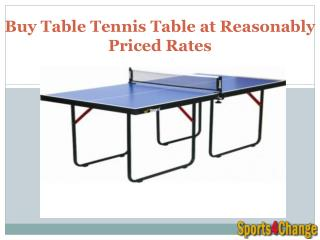 Buy Table Tennis Table at Reasonably Priced Rates