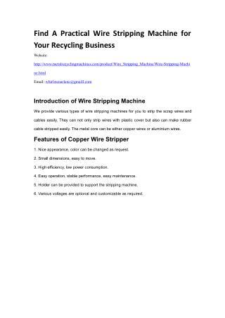 Whirlston Wire Stripping Machine