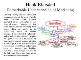 Hank Blaisdell Remarkable Understanding of Marketing