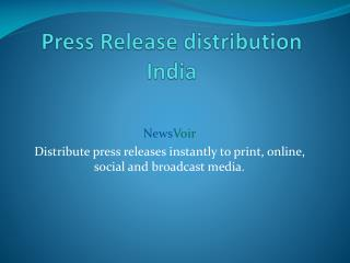 press release distribution india