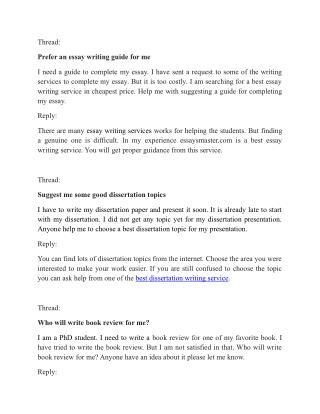 Best Essay writing Tips