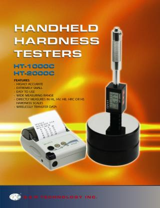 G & R Technology Inc : Latest Portable Hardness Tester
