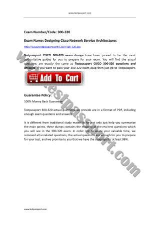 300-320 dumps Designing Cisco Network Service Architectures
