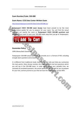 350-080 dumps CCIE Data Center Written Exam