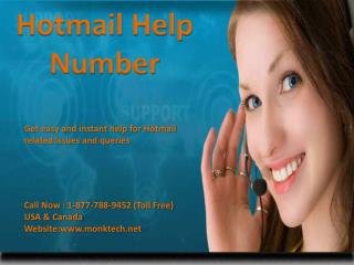 Get instant and easy help Call Hotmail help 1-877-788-9452 tollfree number
