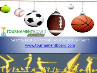 Post & Promote Sports tournaments Texas