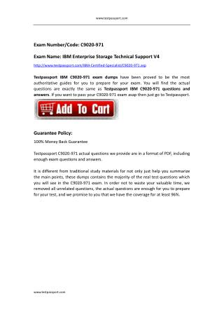 C9020-971 dumps IBM Enterprise Storage Technical Support V4