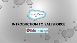 Introduction to Salesforce by Dallas Technologies