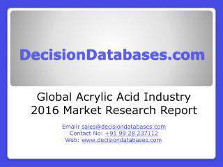 Acrylic Acid Market Analysis 2016 Development Trends
