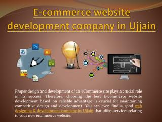 E-commerce website development company in Ujjain