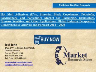 Hot Melt Adhesives Market Dynamics, Forecast, Analysis and Supply Demand 2015-2020