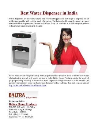 Best Water Dispenser in India