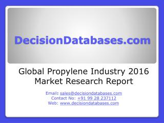 Global Propylene Market and Forecast Report 2016-2020