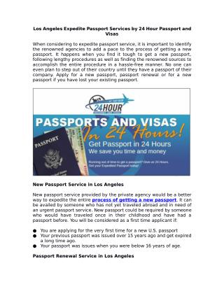 Get Expedited Passport Services in Los Angeles