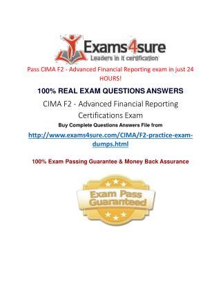 Cima F2 Exam