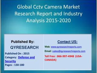 Global Cctv Camera Market 2015 Industry Forecasts, Analysis, Applications, Research, Study, Overview, Outlook and Insigh