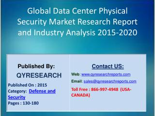 Global Data Center Physical Security Market 2015 Industry Shares, Insights,Applications, Development, Growth, Overview a