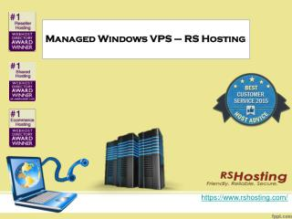 Managed Windows VPS - RS Hosting