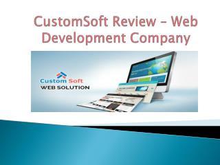 CustomSoft Review-Web Development company
