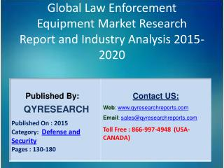 Global Law Enforcement Equipment Market 2015 Industry Growth, Outlook, Development and Analysis
