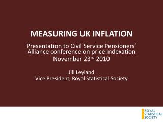 MEASURING UK INFLATION