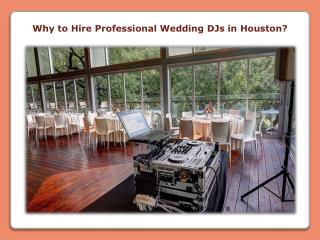 Why to Hire Professional Wedding DJs in Houston