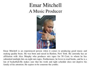 Emar Mitchell A Music Producer