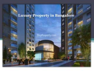 Bangalore gears up for Residential Properties