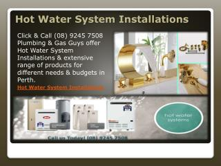 Hot Water System Installations