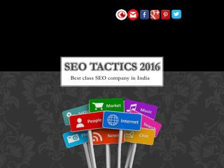 SEO tactics 2016 - professional SEO Company in Bangalore