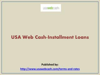 USA Web Cash-Installment Loans