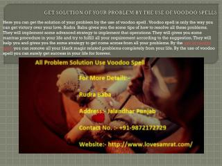 All Problem Solution Use Voodoo Spell