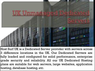 Dedicated Server Hosting Uk