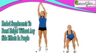 Herbal Supplements To Boost Height Without Any Side Effects In People