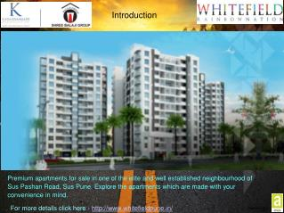 Whitefield: Upcoming Residential Projects In Sus Pune