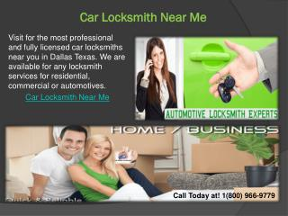 Car Locksmith Near Me