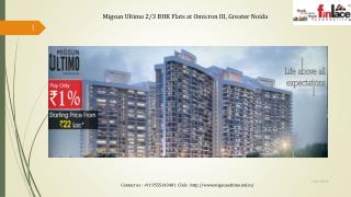 Migsun Ultimo 2/3 BHK Apartment at Greater Noida