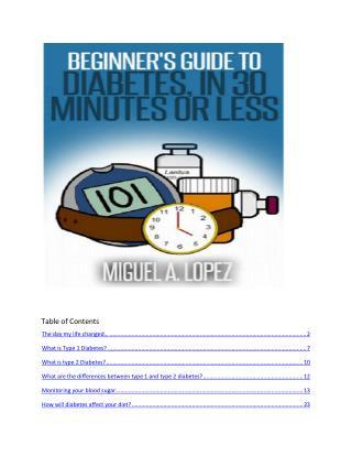 Diabetes Ebook: Beginner's Guide To Diabetes In 30 Minutes Or Less