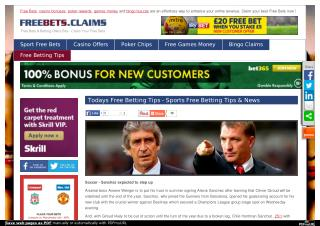 Free Bets & Betting Offers Site