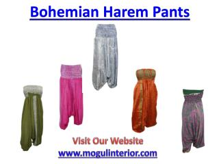 Harem Pants with Style http://www.mogulinterior.com/