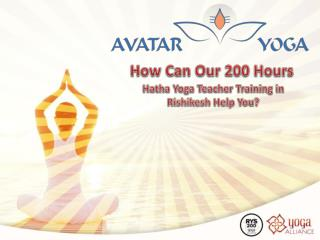 200 Hours Yoga Teacher Training - Avatar Yoga School