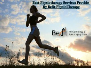 Getting The Certification Physiotherapy Treatment at Befit Clinic