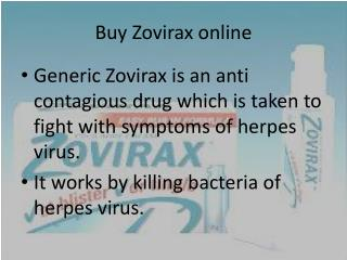 Info to Read before ordering Zovirax online