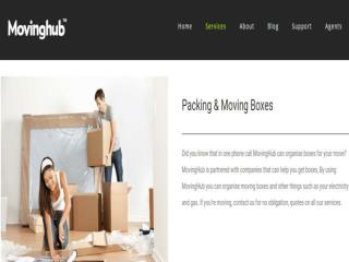Moving Packing Boxes Services Victoria, Australia