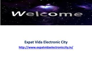 Expat Vida Electronic City