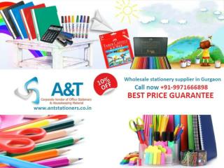 Buy wholesale stationery items at 10% Discount in Gurgaon