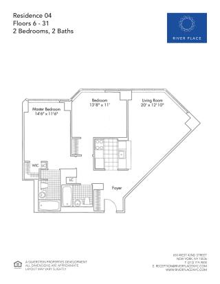 2 Bedroom NYC Apartment - Residence 04 Floor 06-31