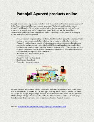 Patanjali Ayurved products online